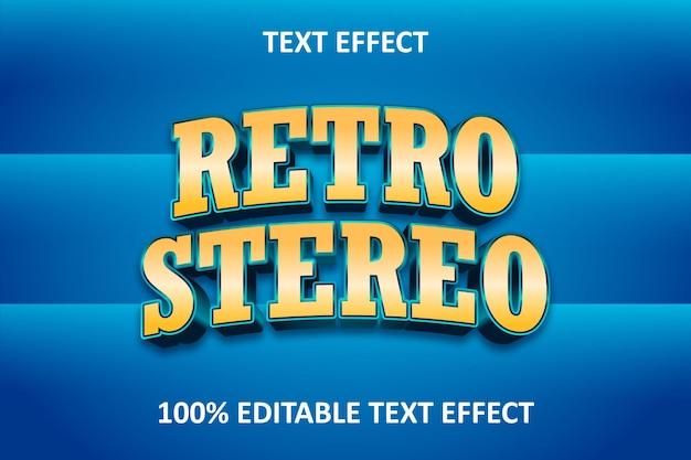 Editable text effect blue orange retro