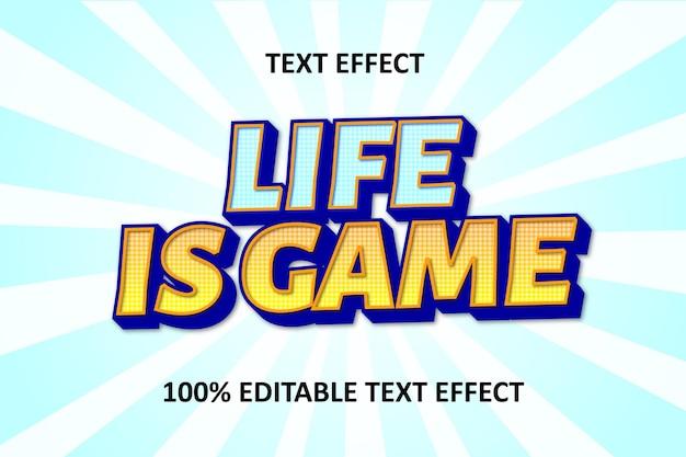 Editable text effect blue orange