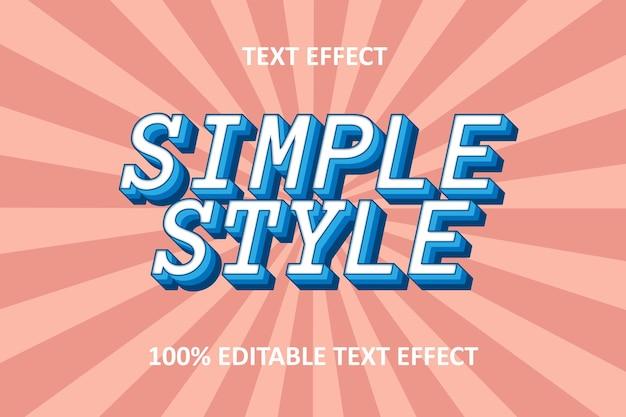 Editable text effect blue pastel
