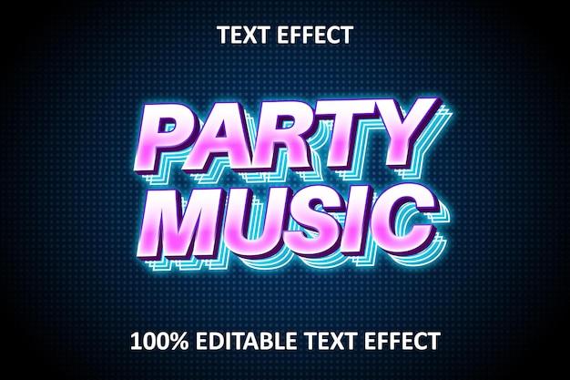 Editable text effect blue pink light