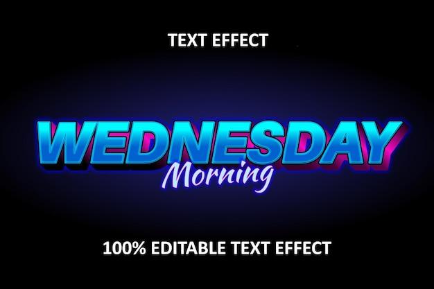 Редактируемый текстовый эффект синий розовый