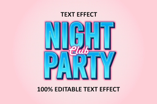 Editable text effect blue red pink