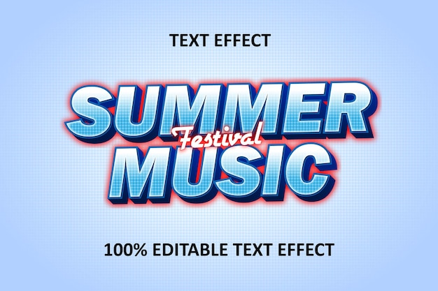 Editable text effect blue red