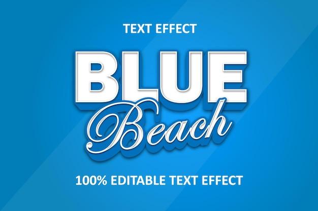 Editable text effect blue shadow