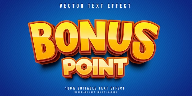 Editable text effect in bonus poin style