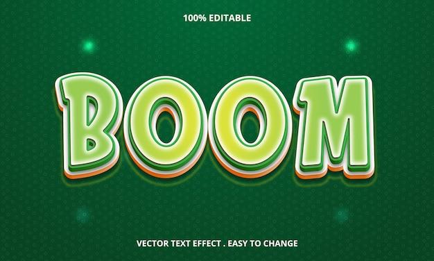 緑に分離された編集可能なテキスト効果ブームのタイトル