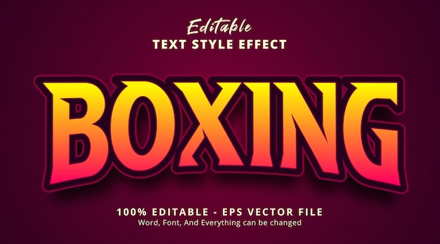 Editable text effect boxing text on headline gaming style