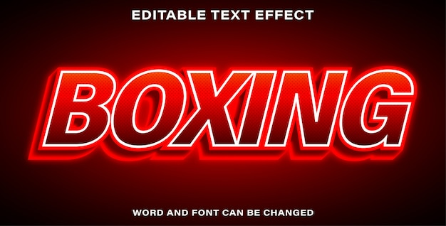 Editable text effect - boxing