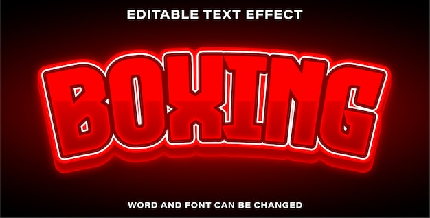 Editable text effect boxing