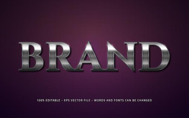 편집 가능한 텍스트 효과 브랜드 스타일