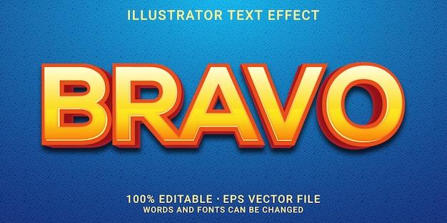 Editable text effect - bravo  style