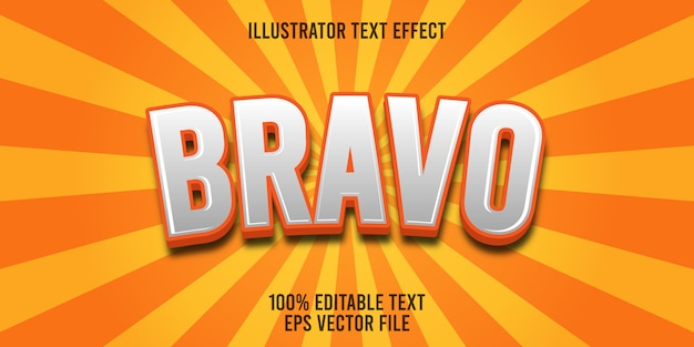 Editable text effect bravo