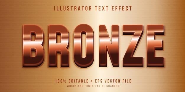 Editable text effect - bronze style