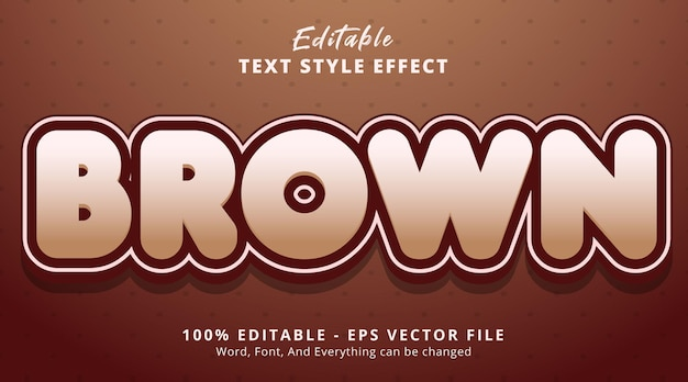 Editable text effect, brown text with layered style template