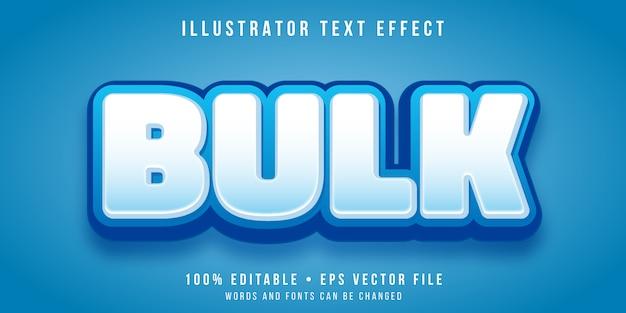 Editable text effect - bulky bold text style