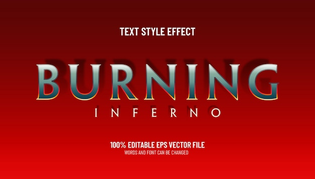 Editable text effect burning inferno game style