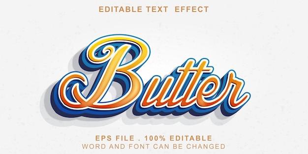 편집 가능한 텍스트 효과 버터 그라디언트