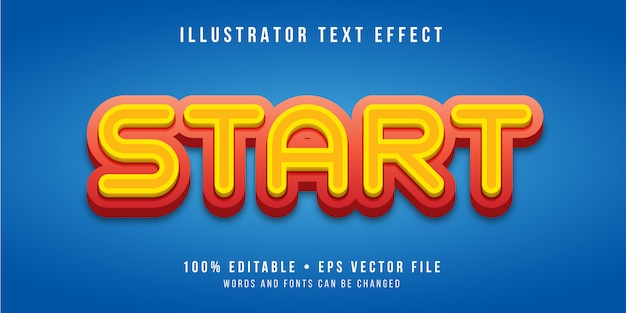 Editable text effect - button style