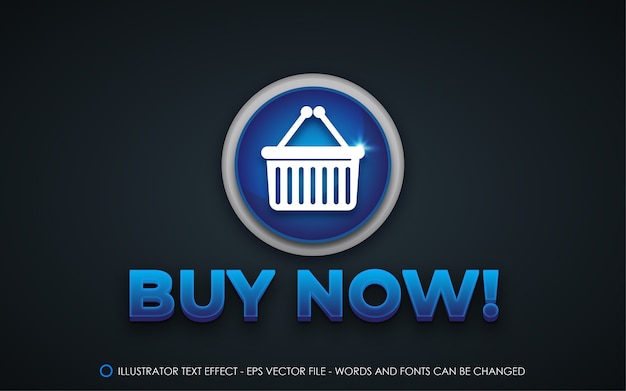Editable text effect, buy now! style illustrations