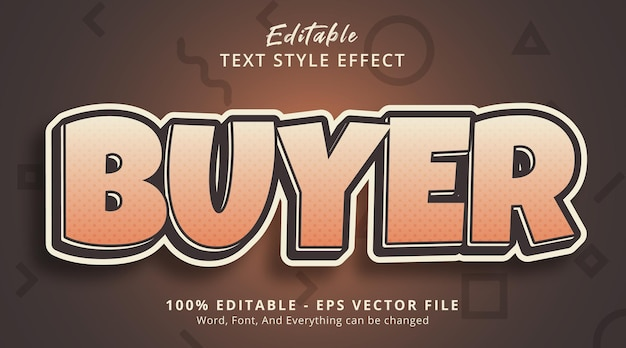 Editable text effect, buyer text on retro color style effect