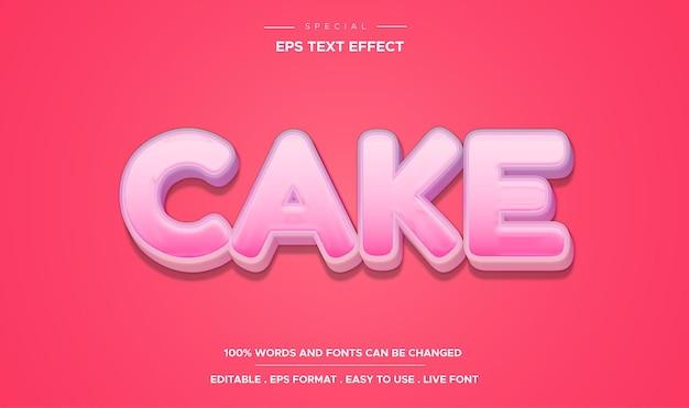 Редактируемый текстовый эффект в стиле торта