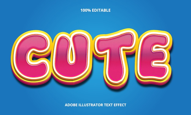 Editable text effect - candy style