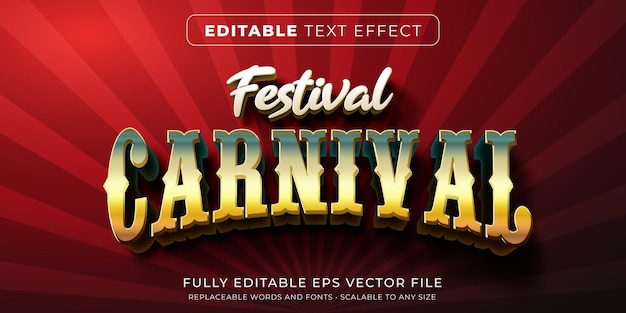 Editable text effect in carnival style