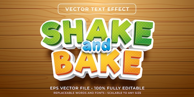 Editable text effect - cartoon baking style
