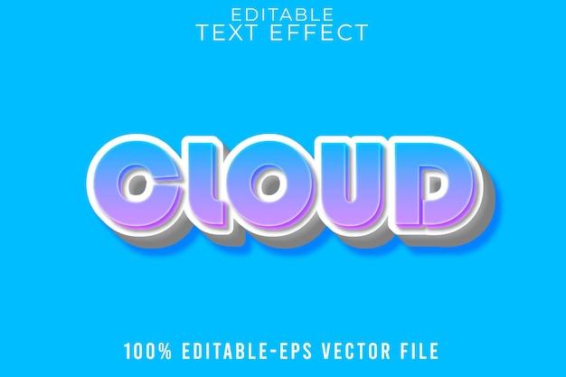 Редактируемый текст эффект стиль мультфильмы облака