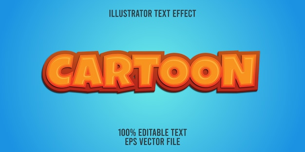 Editable text effect   cartoon style
