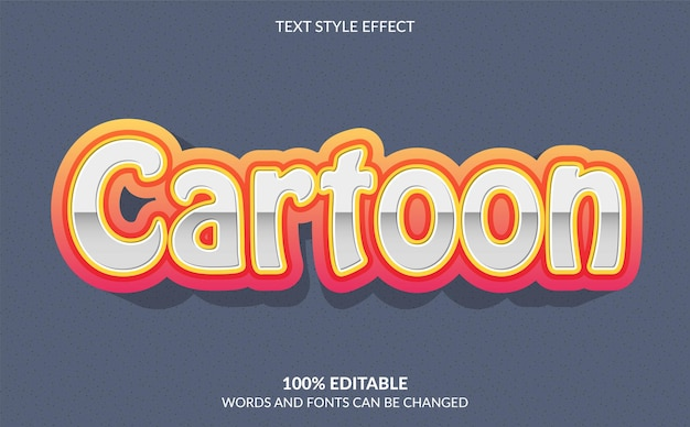 편집 가능한 텍스트 효과 만화 텍스트 스타일