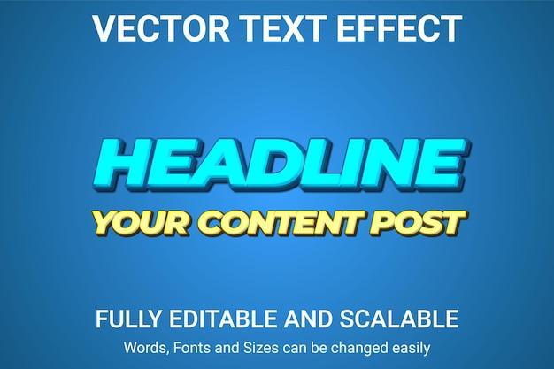 Редактируемый текстовый эффект - стиль текста мультфильм