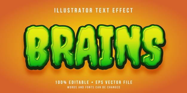 Editable text effect - cartoon zombie style
