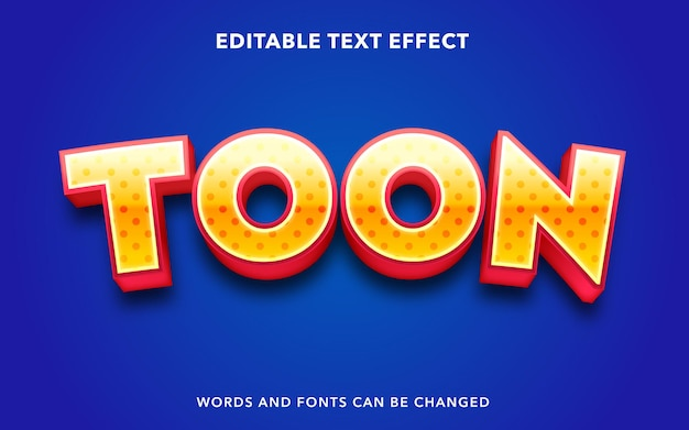 Editable text effect for cartoon