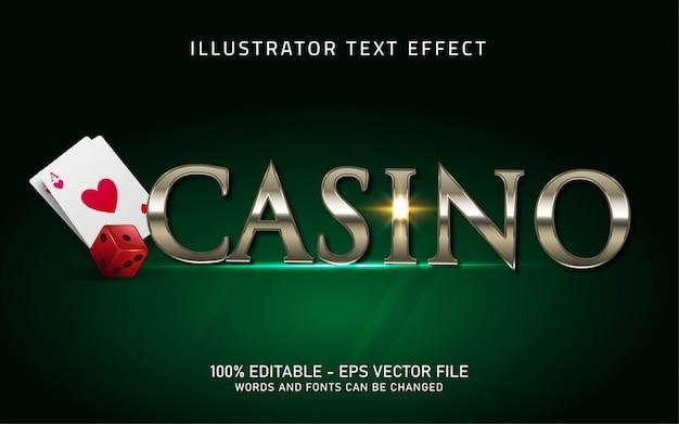 Редактируемый текстовый эффект, иллюстрации в стиле казино