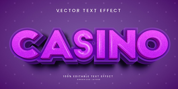Editable text effect in casino style
