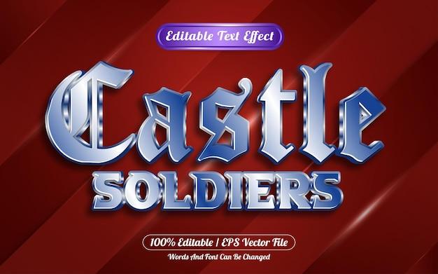 Editable text effect castle template style