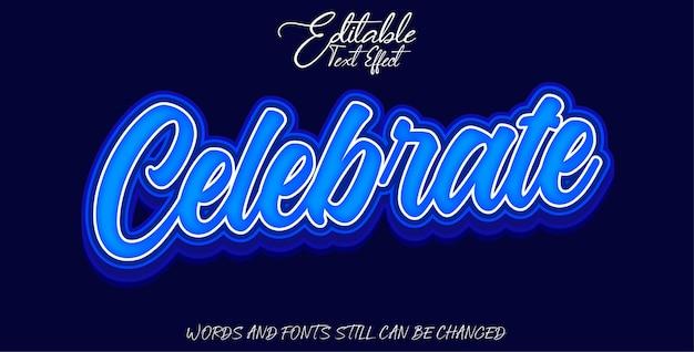 Editable text effect celebrate