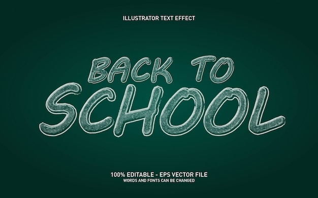 Editable text effect, chalk board style illustrations