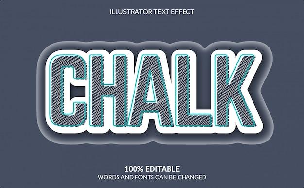 Editable text effect, chalk text effect