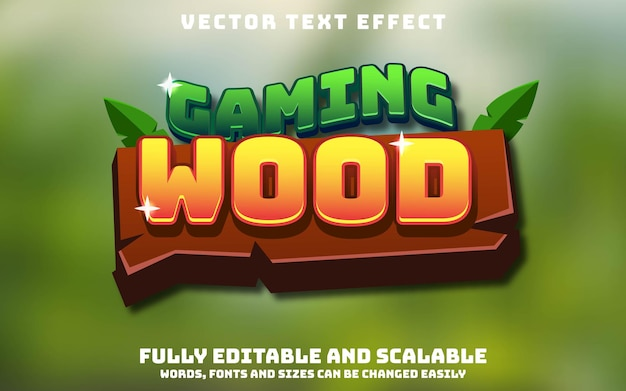 Editable text effect, and change text
