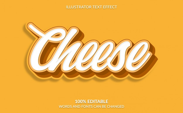 Editable text effect, cheese text style