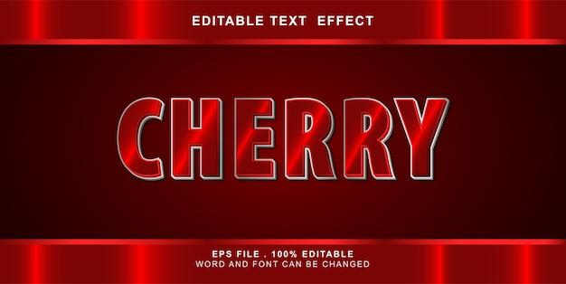 Editable text effect cherry