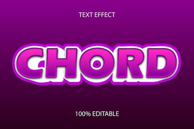 Редактируемый текстовый эффект цвет пурпурного аккорда