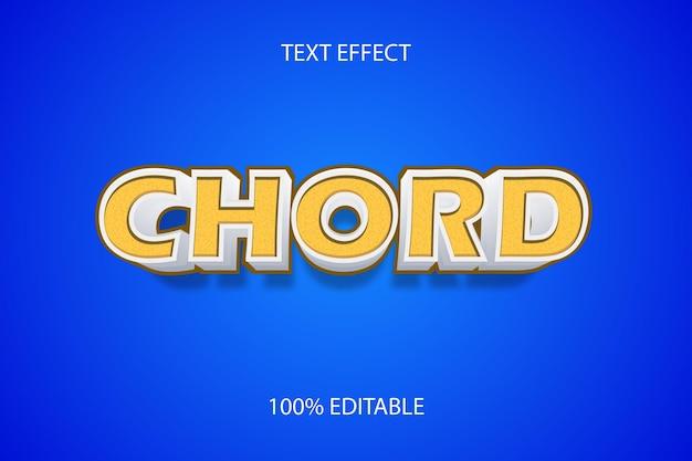Редактируемый текстовый эффект желтый цвет аккорда