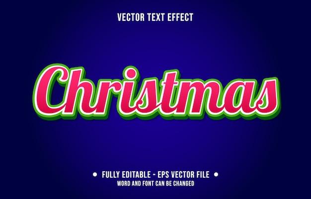 Editable text effect christmas modern gradient style