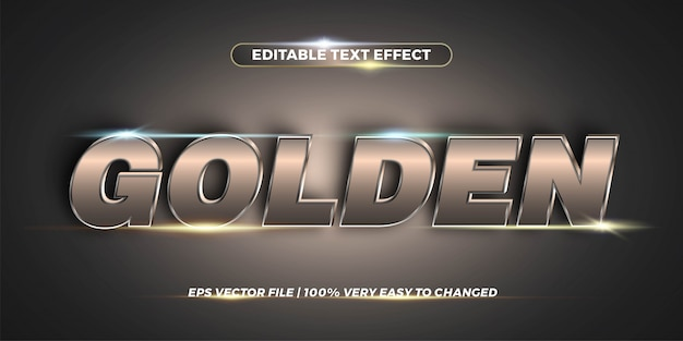 Editable text effect - chrome text style  concept