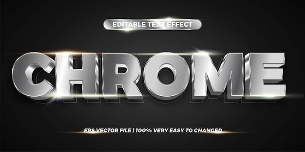 Редактируемый текстовый эффект - стиль текста chrome