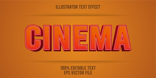 Editable text effect   cinema style