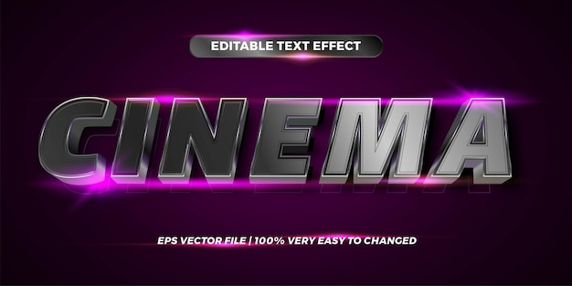 Editable text effect - cinema text style